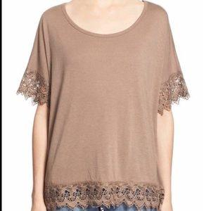 Chloe K Scalloped Lace shirt